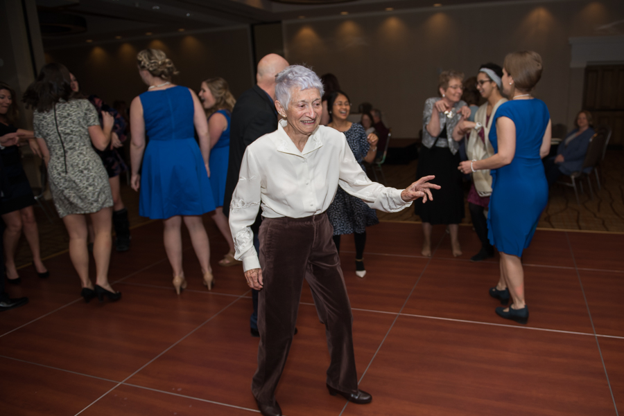 grandma dancing at reception