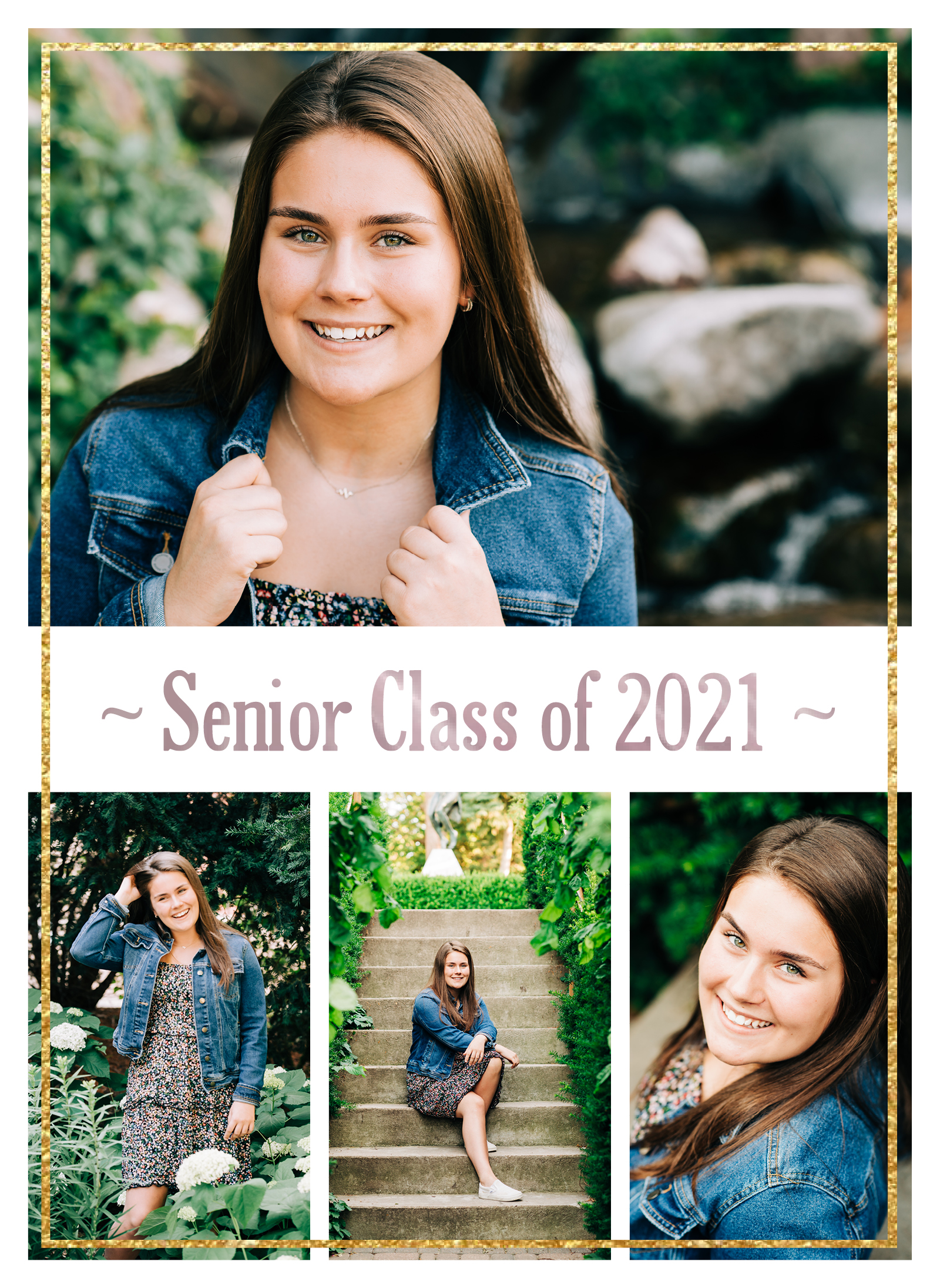 Senior Girl Picture Collage