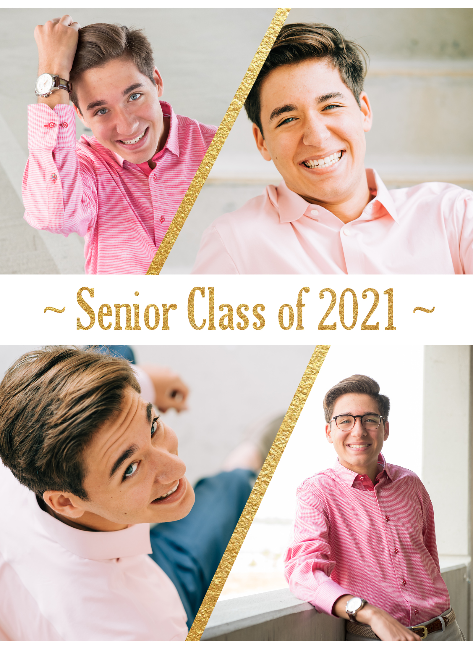 Senior Guy in Pink